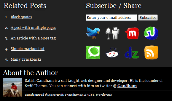Author info and related posts in SWIFT v5.0