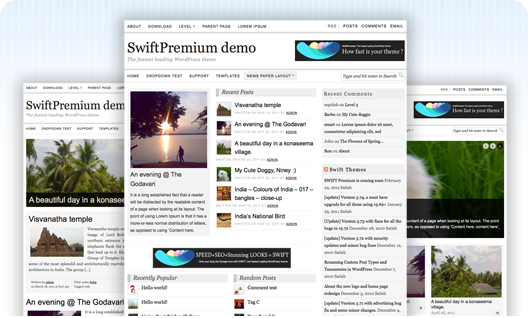 SwiftPremium SEO WordPress theme