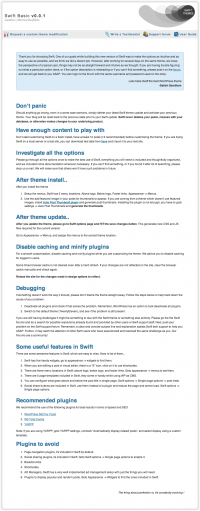 Swift theme help page
