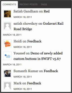 New tabs widget in Swift