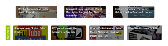 TechBU featured section inspired from TNW