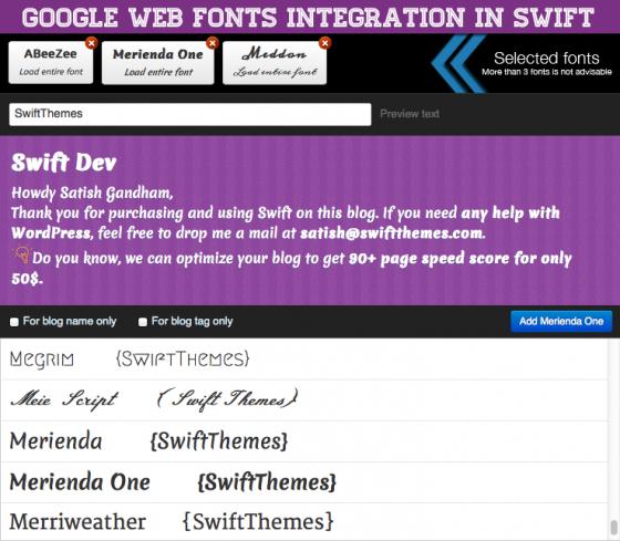 Google Web Font Integration in Swift