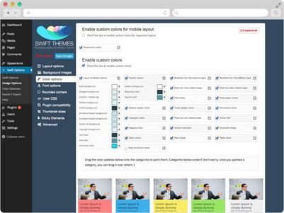 Swift-WordPress-Theme-Options-Page