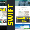 You can convert a PSD like this into a WordPress site with Swift in less than 2 hours.