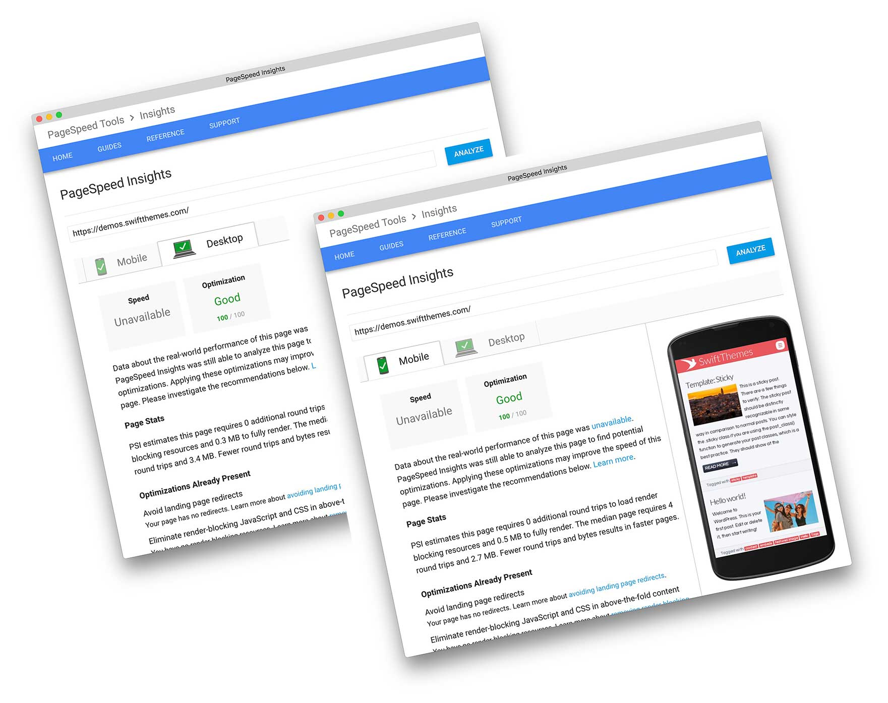 Get 100 Page Speed score for Mobile and Desktops