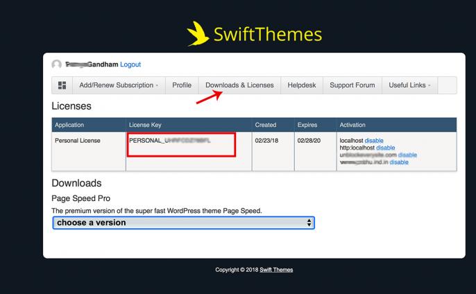 Installing PageSpeed WordPress Theme