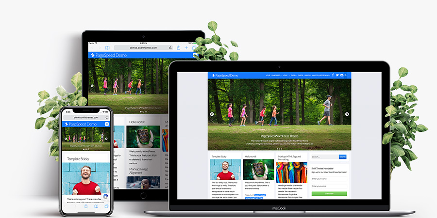 PageSpeed Super Fast theme responsive showcase